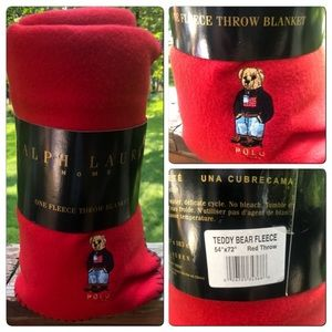 New Ralph Lauren 54x72  Bear fleece Blanket